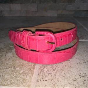 Talbots Pink Faux Alligator Skin Leather Belt.